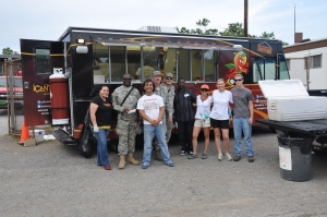 Feeding tornado victims, volunteers and the National Guard